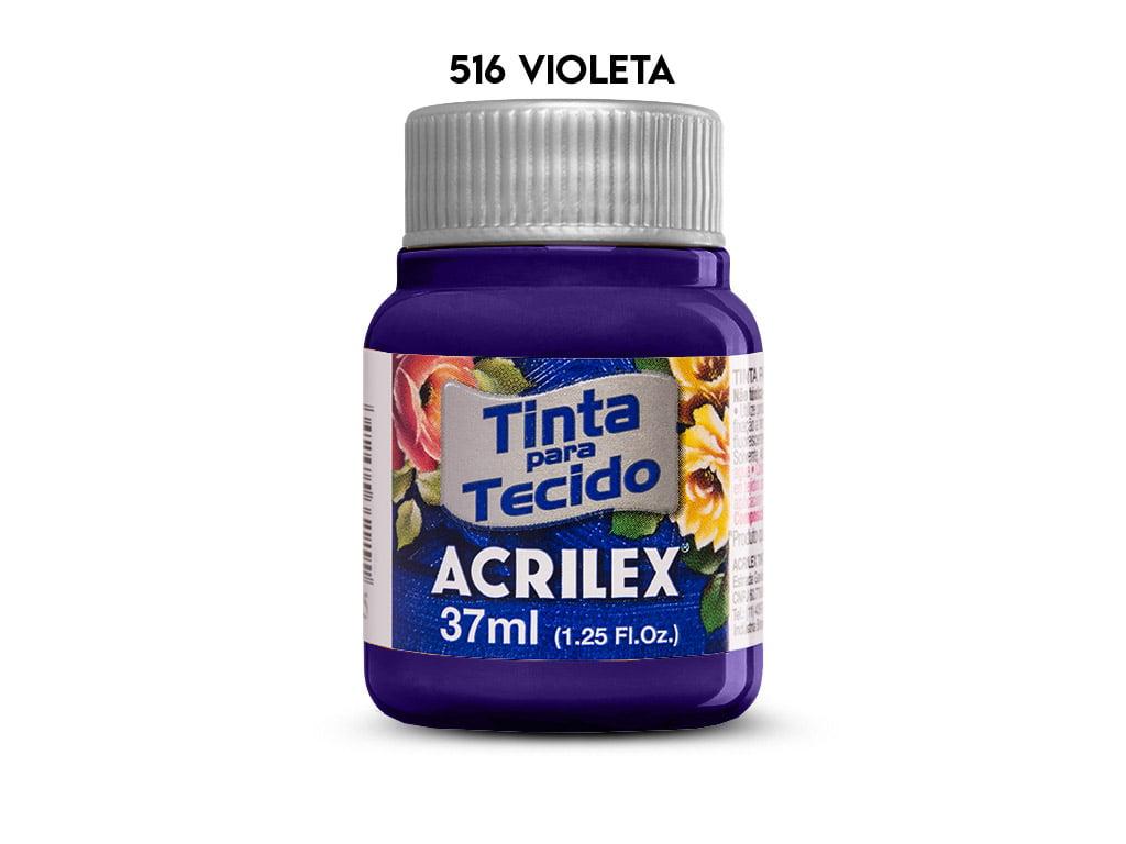 TINTA TECIDO ACRILEX 37ML FOSCA 516 VIOLETA