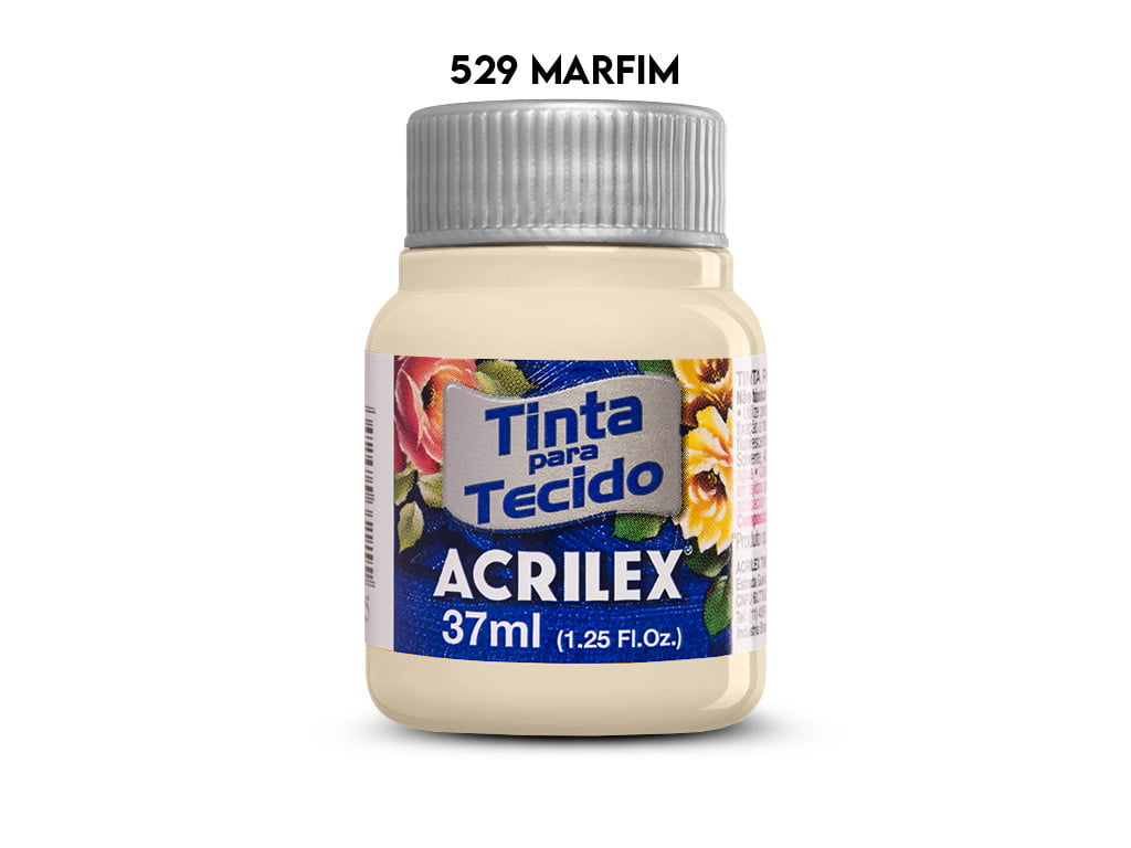TINTA TECIDO ACRILEX 37ML FOSCA 529 MARFIM