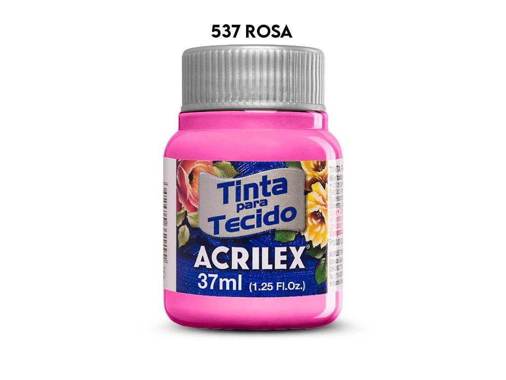 TINTA TECIDO ACRILEX 37ML FOSCA 537 ROSA