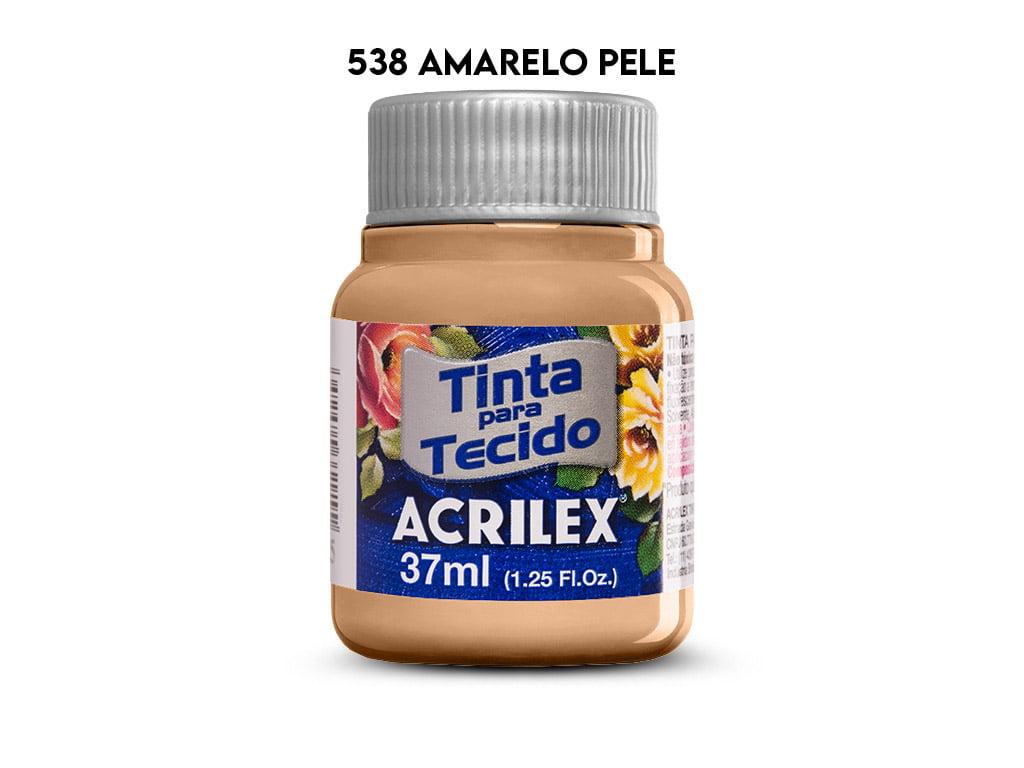 TINTA TECIDO ACRILEX 37ML FOSCA 538 AMARELO PELE