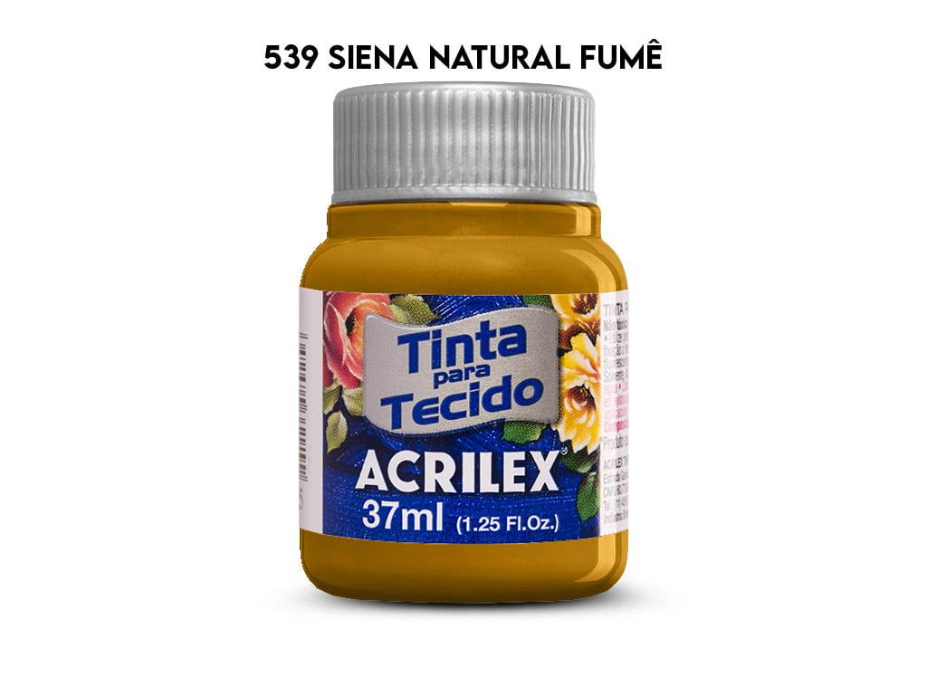 TINTA TECIDO ACRILEX 37ML FOSCA 539 SIENA NATURAL