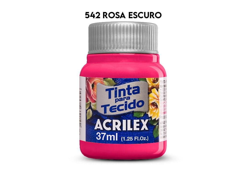 TINTA TECIDO ACRILEX 37ML FOSCA 542 ROSA ESCURO