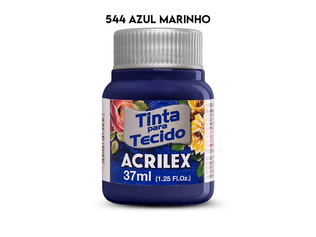 TINTA TECIDO ACRILEX 37ML FOSCA 544 AZUL MARINHO
