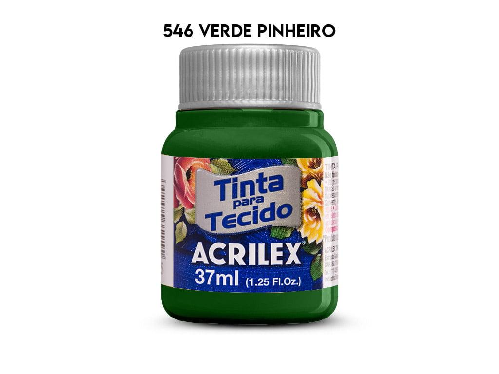TINTA TECIDO ACRILEX 37ML FOSCA 546 VERDE