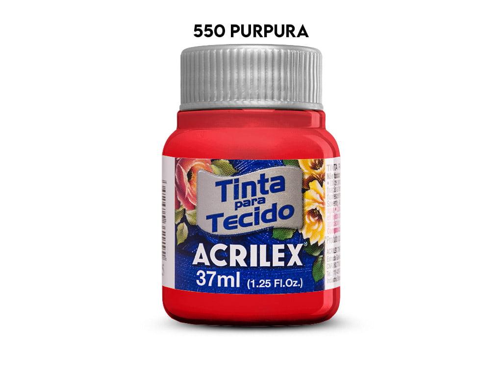 TINTA TECIDO ACRILEX 37ML FOSCA 550 PURPURA