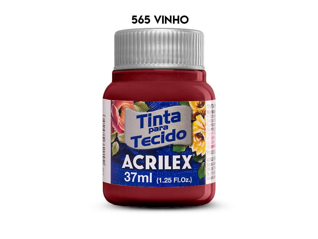 TINTA TECIDO ACRILEX 37ML FOSCA 565 VINHO