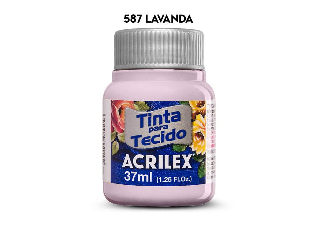 TINTA TECIDO ACRILEX 37ML FOSCA 587 LAVANDA