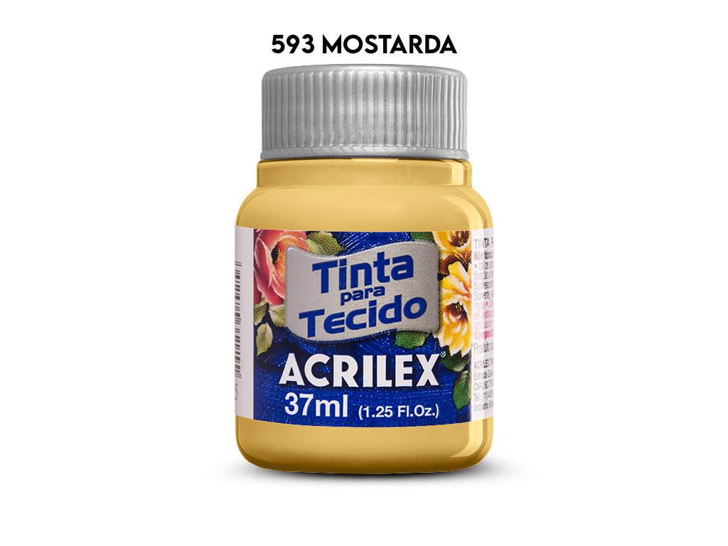 TINTA TECIDO ACRILEX 37ML FOSCA 593 MOSTARDA