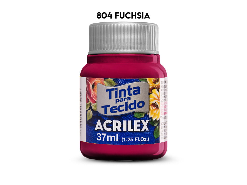 TINTA TECIDO ACRILEX 37ML FOSCA 804 FUCHSIA