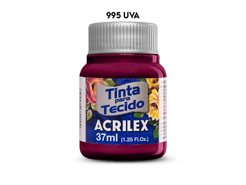 TINTA TECIDO ACRILEX 37ML FOSCA 995 UVA