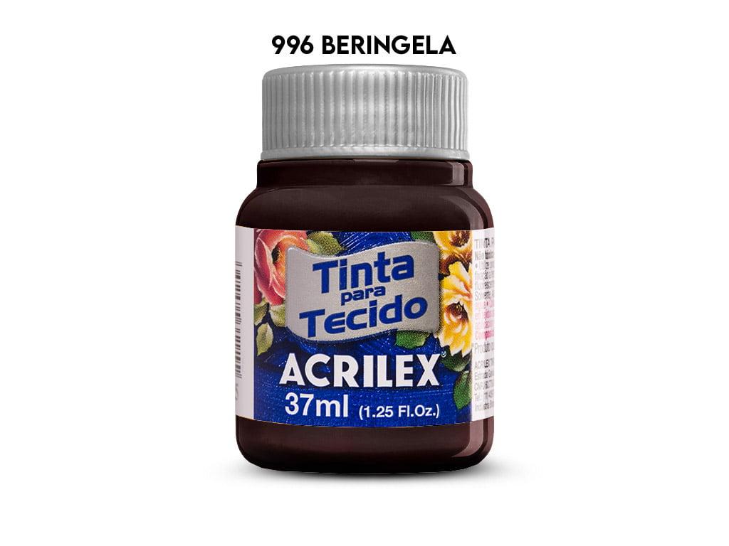 TINTA TECIDO ACRILEX 37ML FOSCA 996 BERINJELA