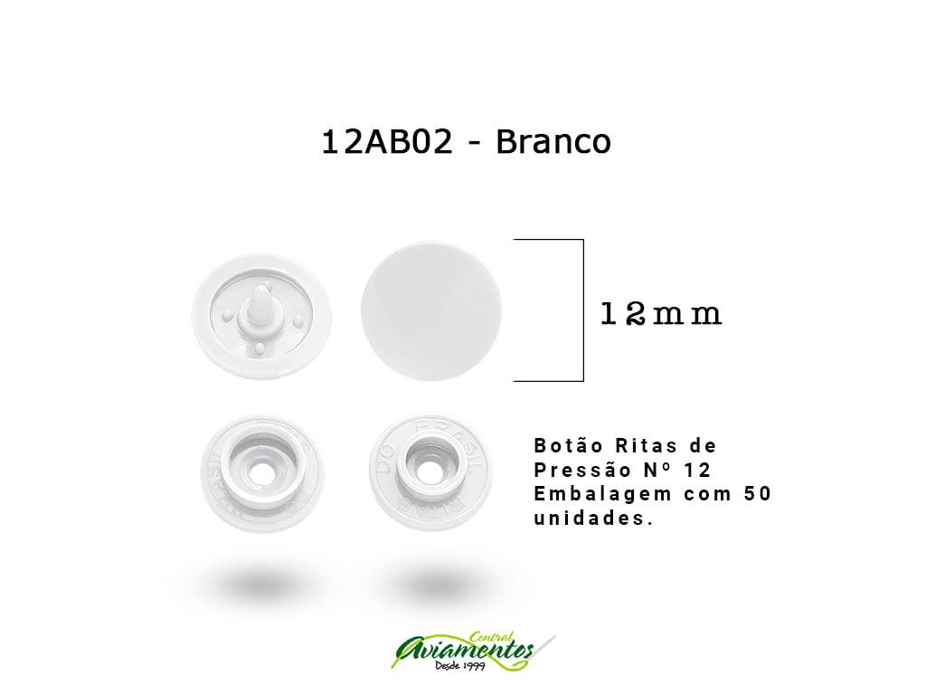 BOTAO DE PRESSAO RITAS N12 200UN BRANCO 02