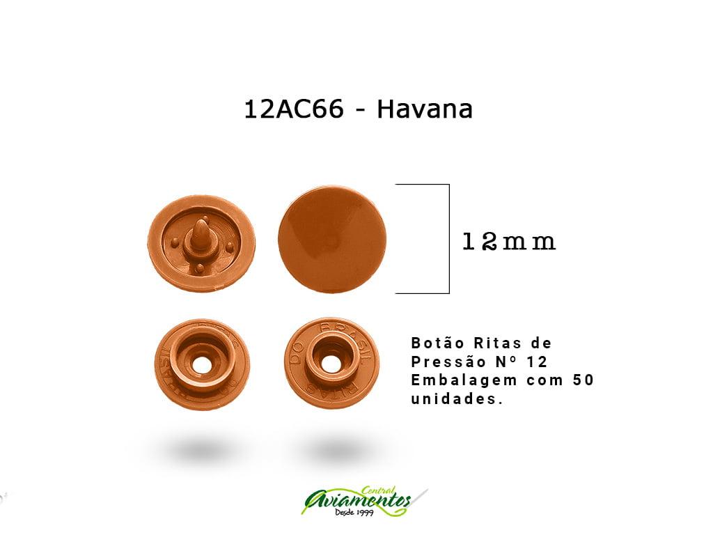 BOTAO DE PRESSAO RITAS N12 200UN HAVANA 66