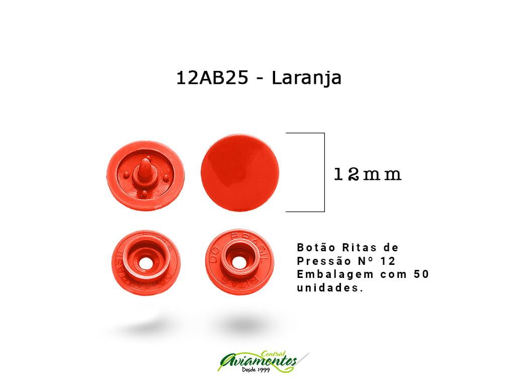 BOTAO DE PRESSAO RITAS N12 200UN LARANJA 25