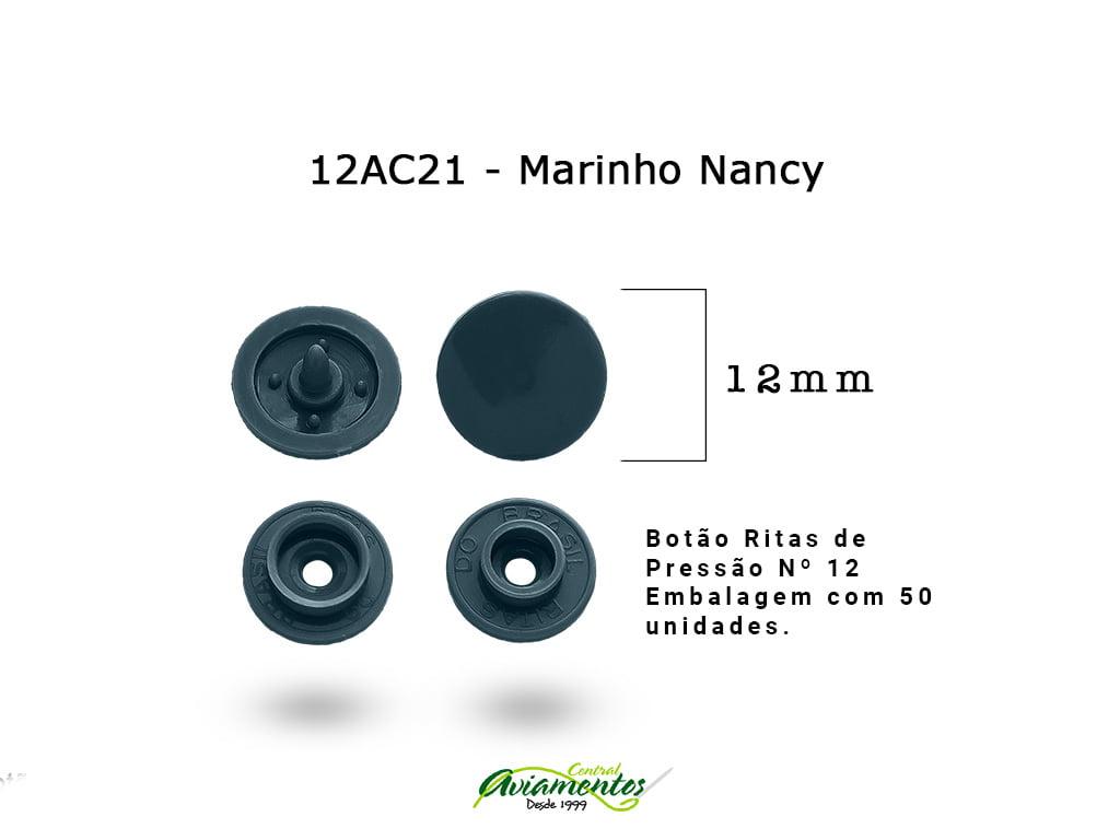 BOTAO DE PRESSAO RITAS N12 200UN MARINHO NANCY 21