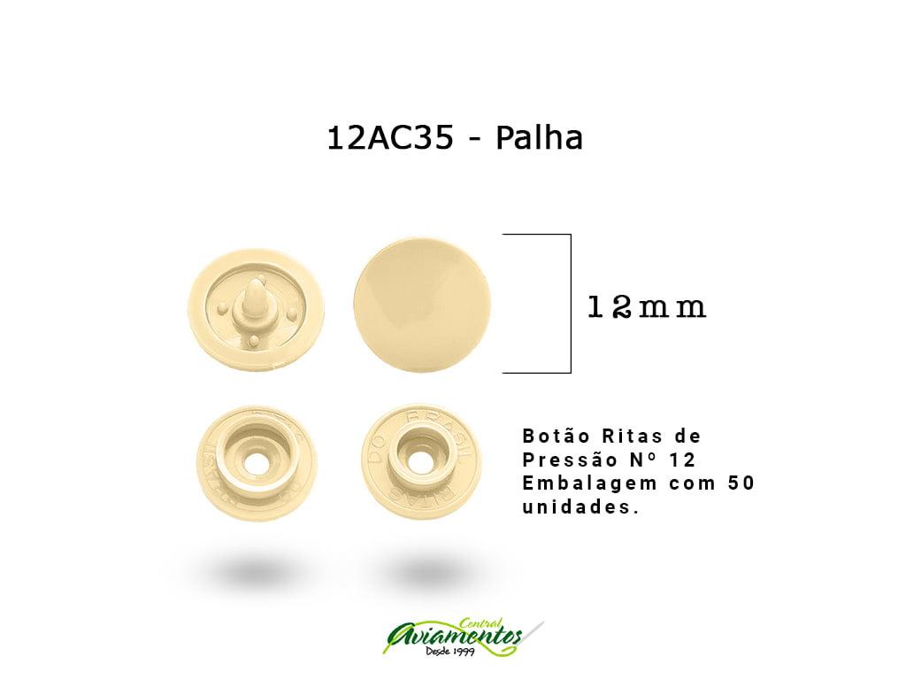 BOTAO DE PRESSAO RITAS N12 200UN PALHA 35