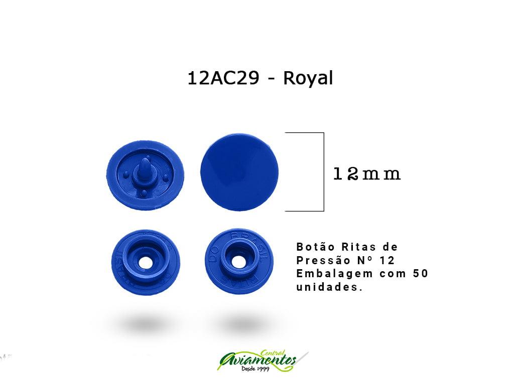 BOTAO DE PRESSAO RITAS N12 200UN ROYAL 29