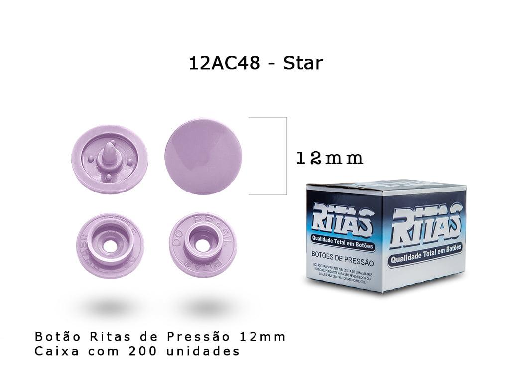 BOTAO DE PRESSAO RITAS N12 200UN STAR 48