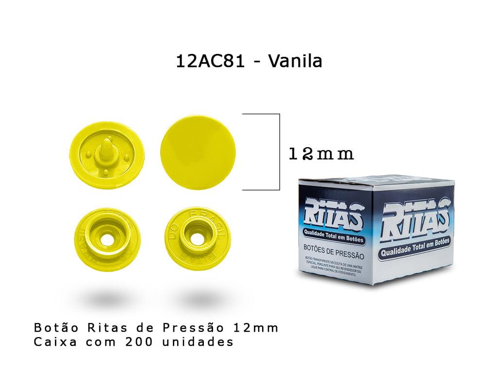 BOTAO DE PRESSAO RITAS N12 200UN VANILA 81