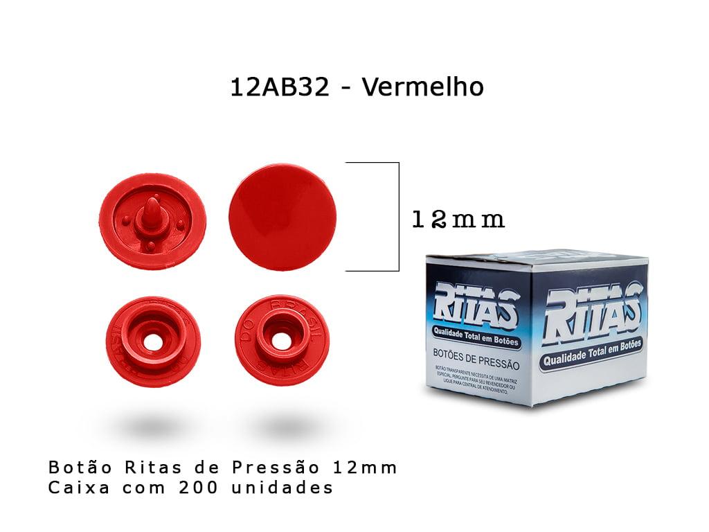 BOTAO DE PRESSAO RITAS N12 200UN VERMELHO 32