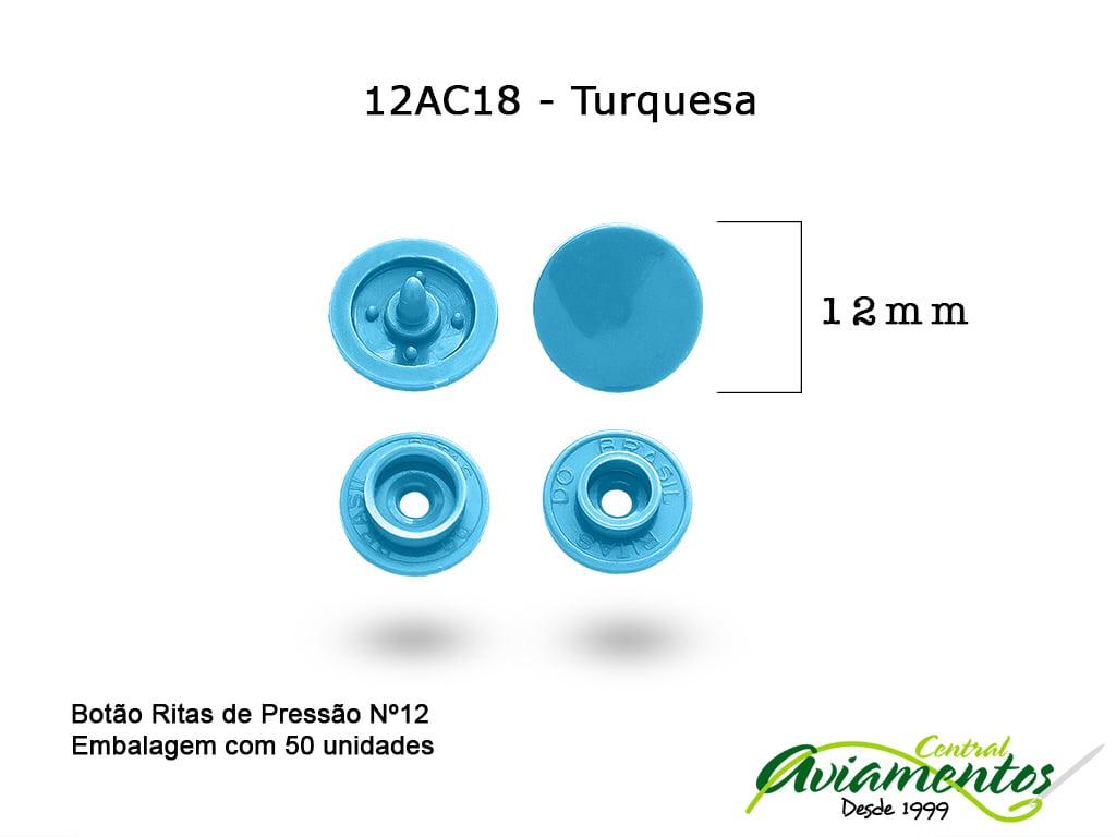 BOTAO DE PRESSAO RITAS N12 50UN TURQUESA 18