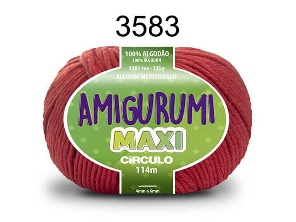 FIO AMIGURUMI MAXI 135G 3583 CEREJA