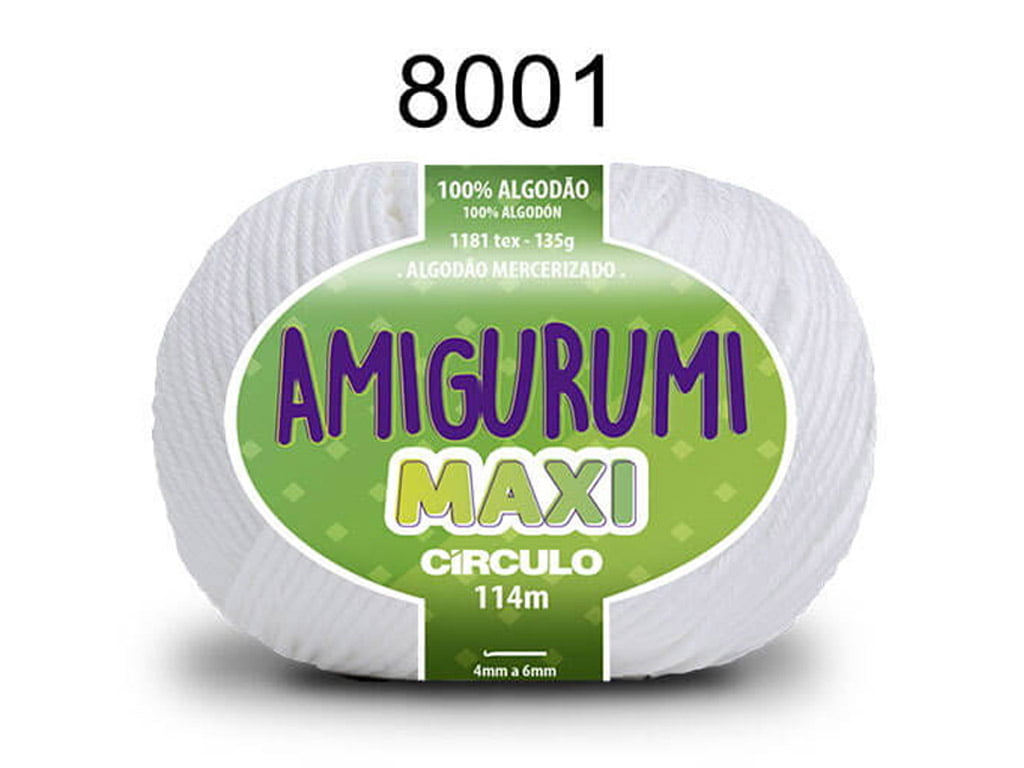 FIO AMIGURUMI MAXI 135G 8001