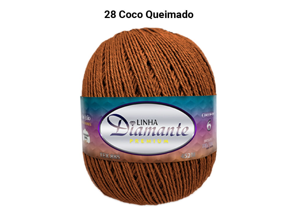 BARBANTE DIAMANTE PREMIUM 4/6 DP0028 COCO QUEIMADO