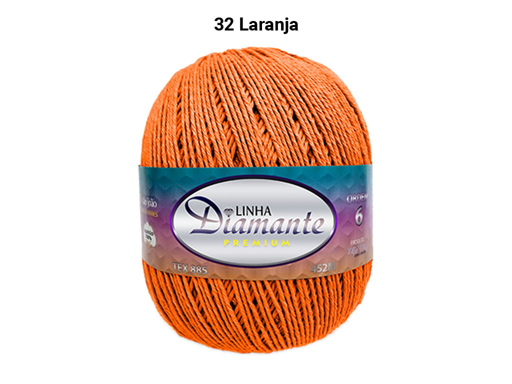 BARBANTE DIAMANTE PREMIUM 4/6 DP0032 LARANJA