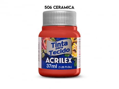 TINTA TECIDO ACRILEX 37ML FOSCA 506 CERAMICA