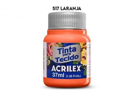 TINTA TECIDO ACRILEX 37ML FOSCA 517 LARANJA
