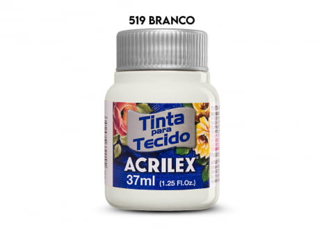 TINTA TECIDO ACRILEX 37ML FOSCA 519 BRANCO