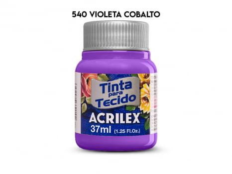 TINTA TECIDO ACRILEX 37ML FOSCA 540 VIOLETA COBALTO