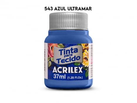 TINTA TECIDO ACRILEX 37ML FOSCA 543 AZUL ULTRAMAR
