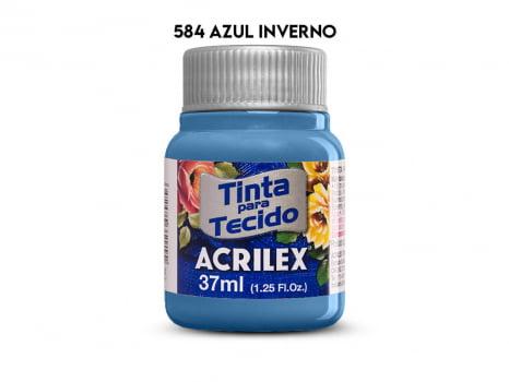 TINTA TECIDO ACRILEX 37ML FOSCA 584 AZUL INVERNO