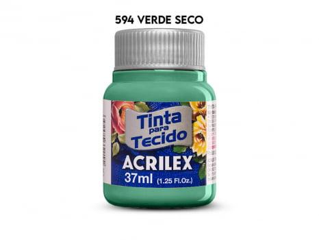 TINTA TECIDO ACRILEX 37ML FOSCA 594 VERDE SECO
