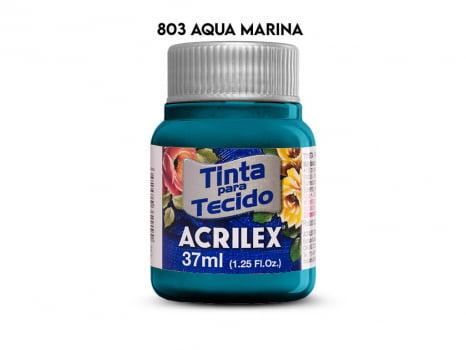 TINTA TECIDO ACRILEX 37ML FOSCA 803 AQUA MARINA
