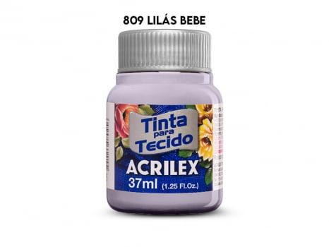 TINTA TECIDO ACRILEX 37ML FOSCA 809 LILAS BEBE
