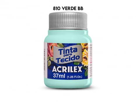 TINTA TECIDO ACRILEX 37ML FOSCA 810 VERDE BEBE