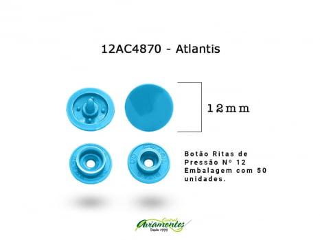 BOTAO DE PRESSAO RITAS N12 200UN ATLANTIS 4870