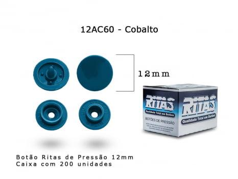 BOTAO DE PRESSAO RITAS N12 200UN COBALTO 60