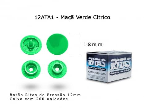BOTAO DE PRESSAO RITAS N12 200UN MACA VERDE CITRICA A1