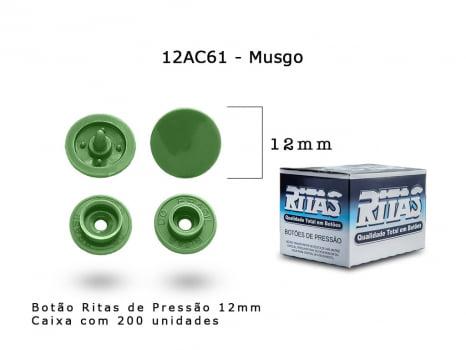 BOTAO DE PRESSAO RITAS N12 200UN MUSGO 61