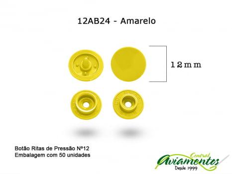 BOTAO DE PRESSAO RITAS N12 50UN AMARELO 24