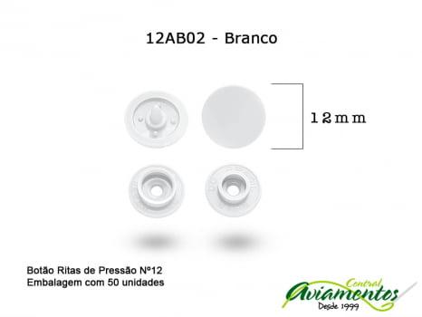 BOTAO DE PRESSAO RITAS N12 50UN BRANCO 02