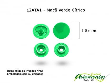 BOTAO DE PRESSAO RITAS N12 50UN MACA VERDE CITRICA A1