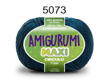 FIO AMIGURUMI MAXI 135G 5073 PETROLEO