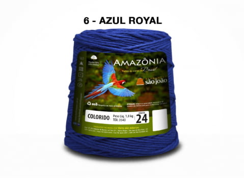 BARBANTE AMAZONIA 4/24 1000G AZUL ROYAL