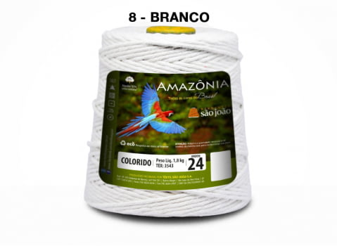 BARBANTE AMAZONIA 4/24 1000G BRANCO