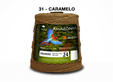 BARBANTE AMAZONIA 4/24 1000G CARAMELO